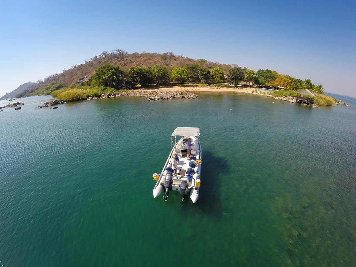 Boat Cruises - Lake Malawi - marelli-islands-blue-zebra-lodge-accommodation-bookings-malawi-lodge-location-travel-booking-nankoma-island