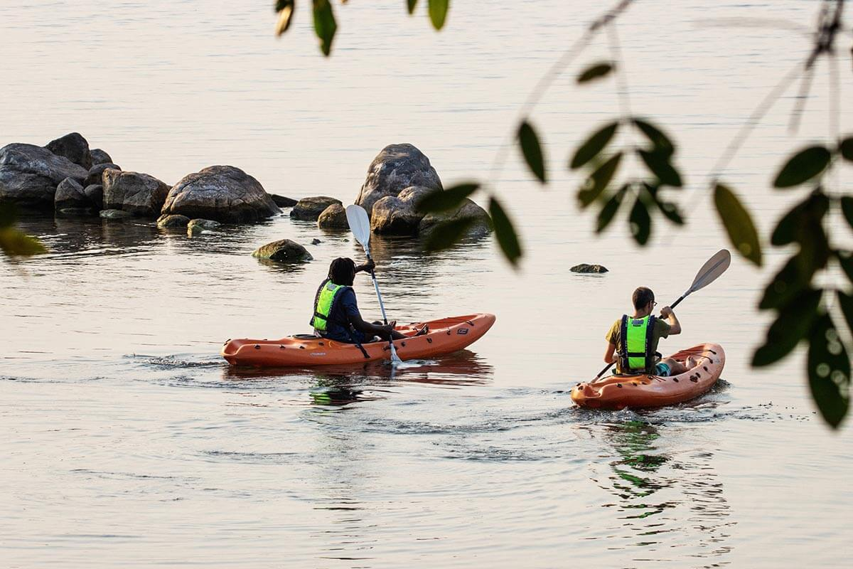 Kayaking - explore-coves-coastal-wildlife-blue-zebra-lodge-accommodation-bookings-malawi-lodge-location-travel-booking-nankoma-island-marelli-peninsula